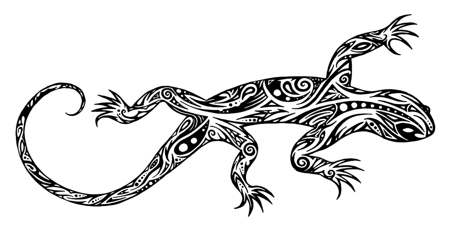 Drawn reptile tribal By DeviantArt Tribal by Fantastiques