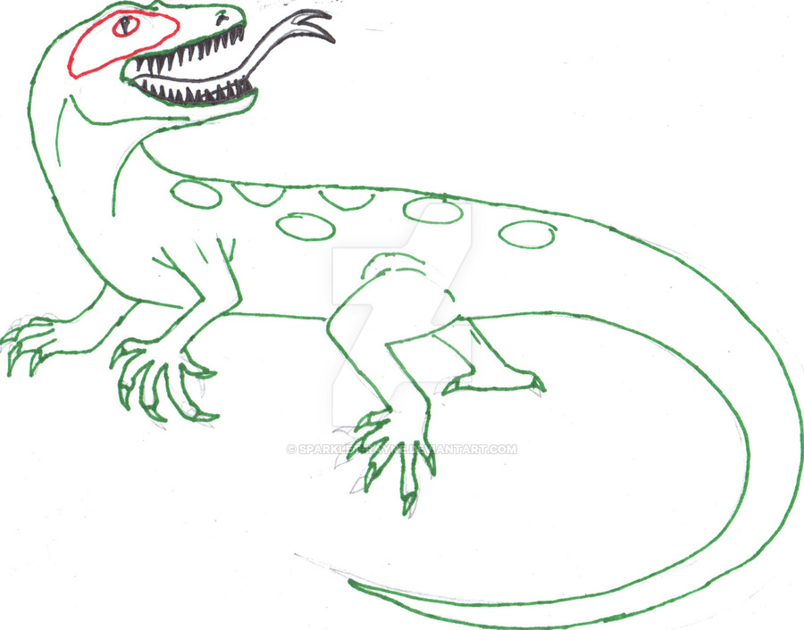 Drawn reptile yellow spotted Lizard Spotted lizard outline Sparklet
