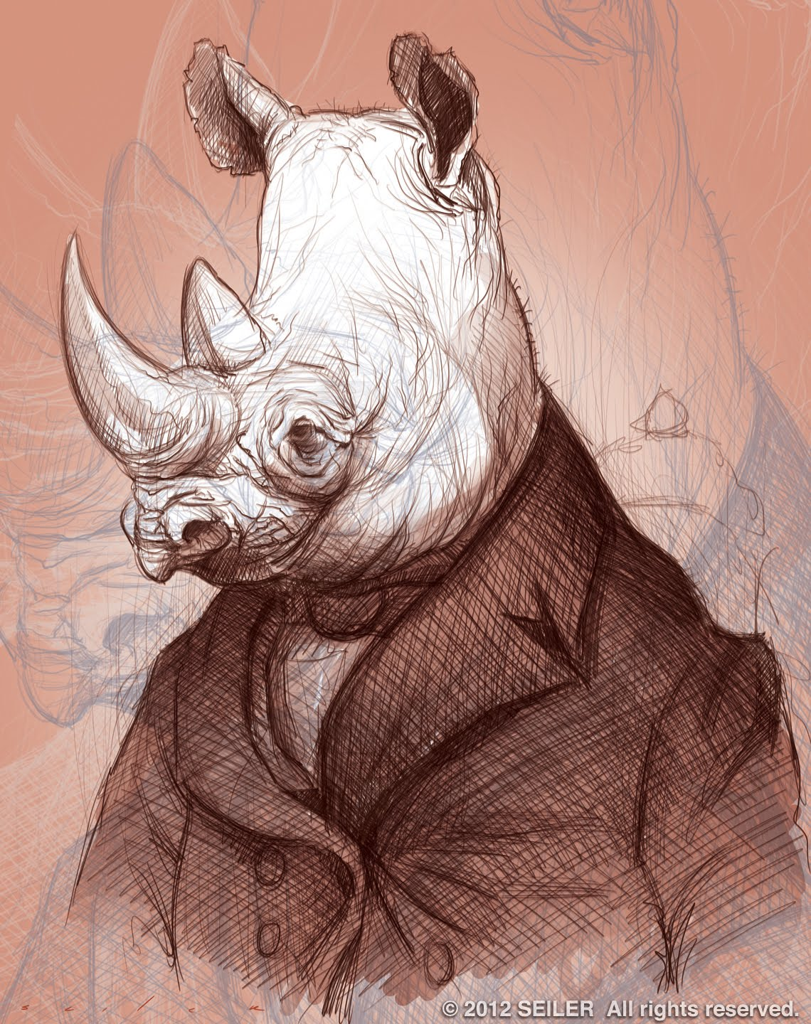 Drawn rhino absurd Search Pinterest Google characters characters