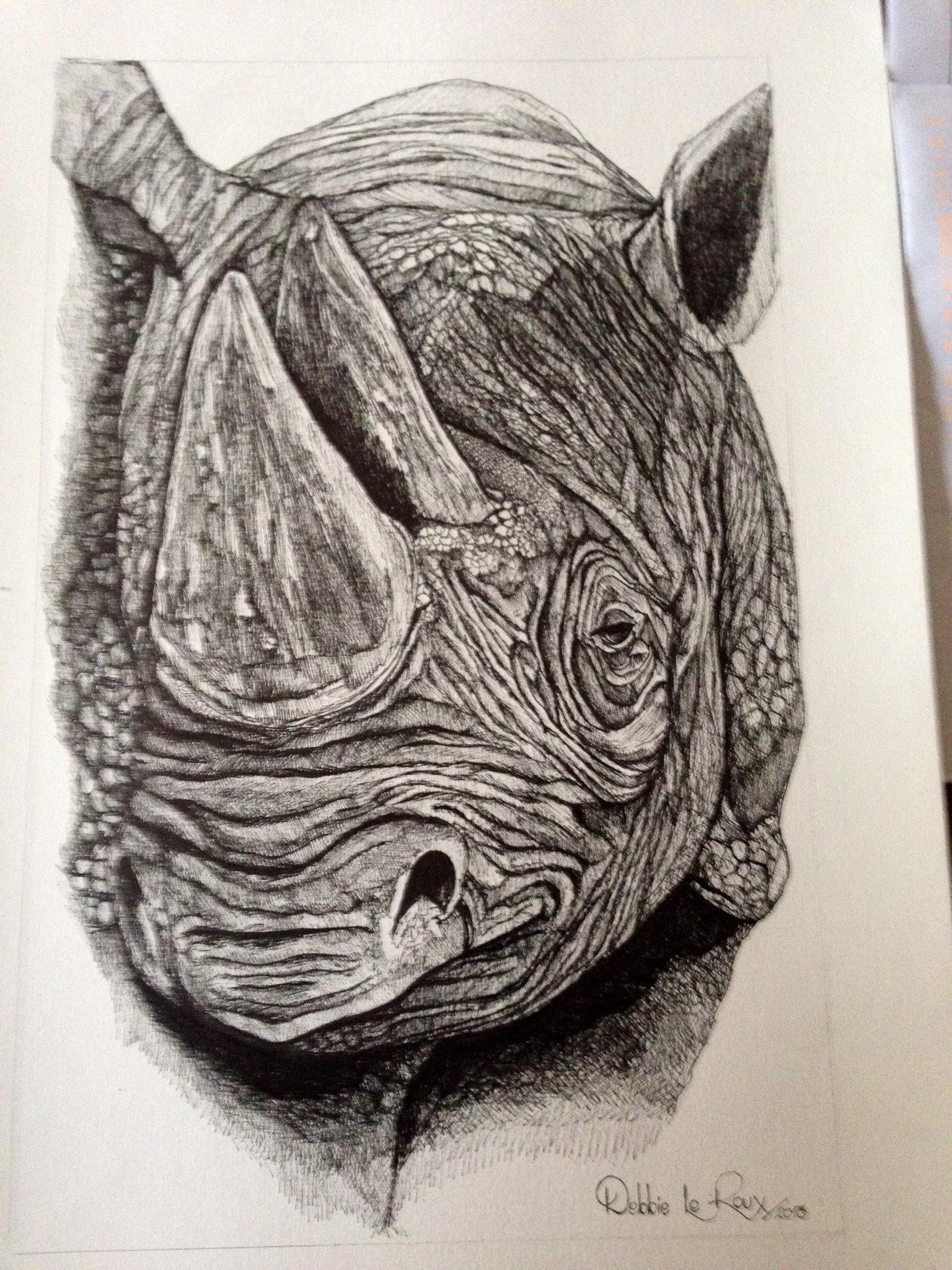 Drawn rhino african rhino Rhino Debbie le drawing for
