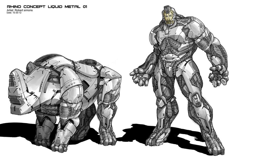 Drawn rhino armored Rhino  Movies art by