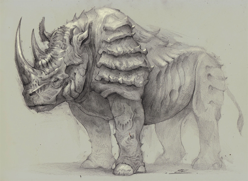 Drawn rhino armored To Armored Rhinoceros Bobby more
