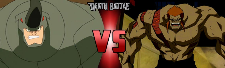 Drawn rhino battle Image BATTLE Full vs powered