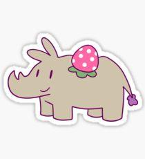 Drawn rhino chibi Sticker Rhino: Strawberry Redbubble Chibi