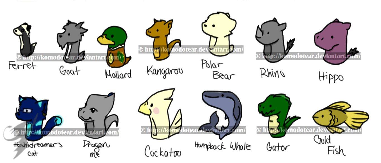 Drawn rhino chibi March by KomodoTear Animal 3