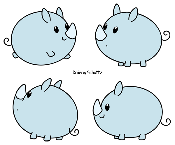 Drawn rhino chibi By Chibi Chibi DeviantArt by