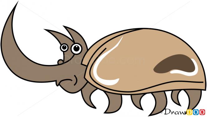 Drawn rhino chibi To Rhinoceros  Insects Draw