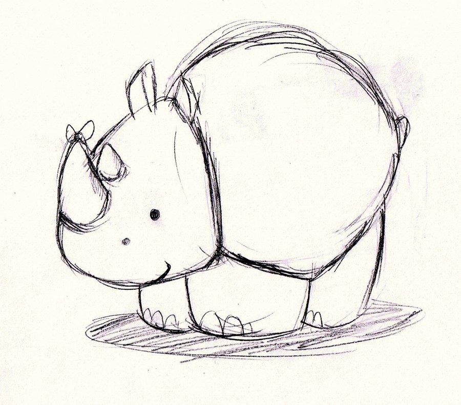 Drawn rhino chibi :3 on Professor Guy21 Professor