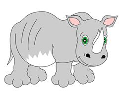 Drawn rhino easy To rhinos How : Drawing