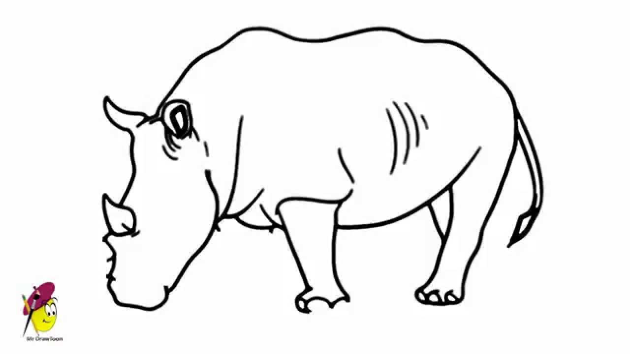 Drawn rhino easy Rhino Image Gallery drawings 1