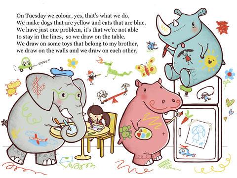 Drawn rhino hippo Me 3 App Screenshot Elephant