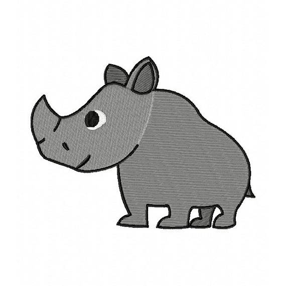 Drawn rhino jungle animal On Five Jungle Animals Design