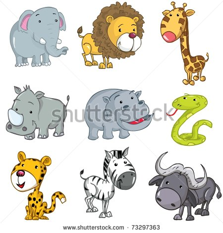 Drawn rhino jungle animal Giraffe lion cute animals rhino