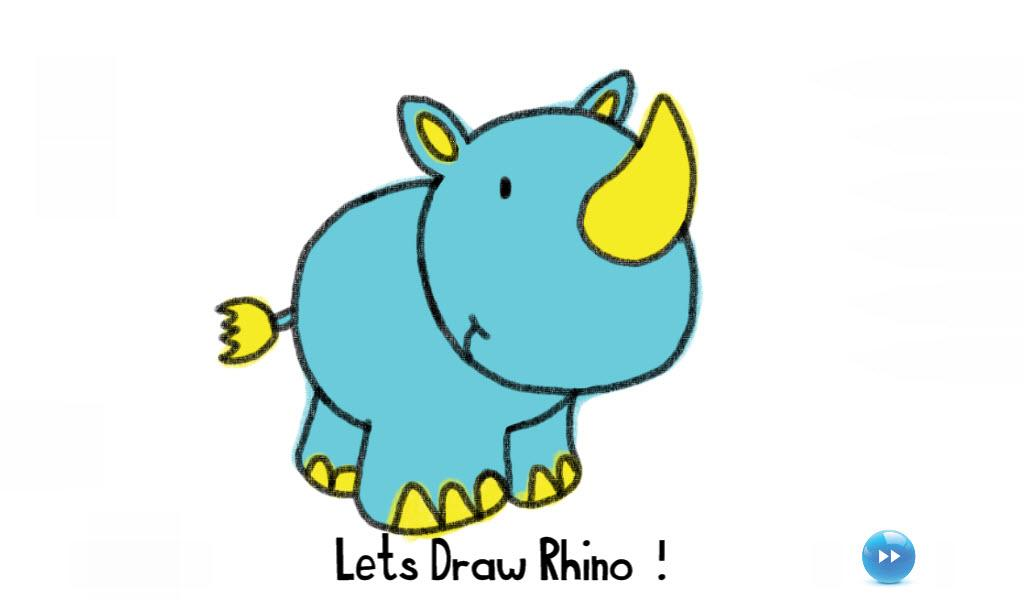Drawn rhino jungle animal For Kids Animal Jungle Jungle