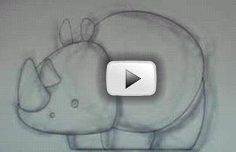 Drawn rhino little kid  draw How Drawing to