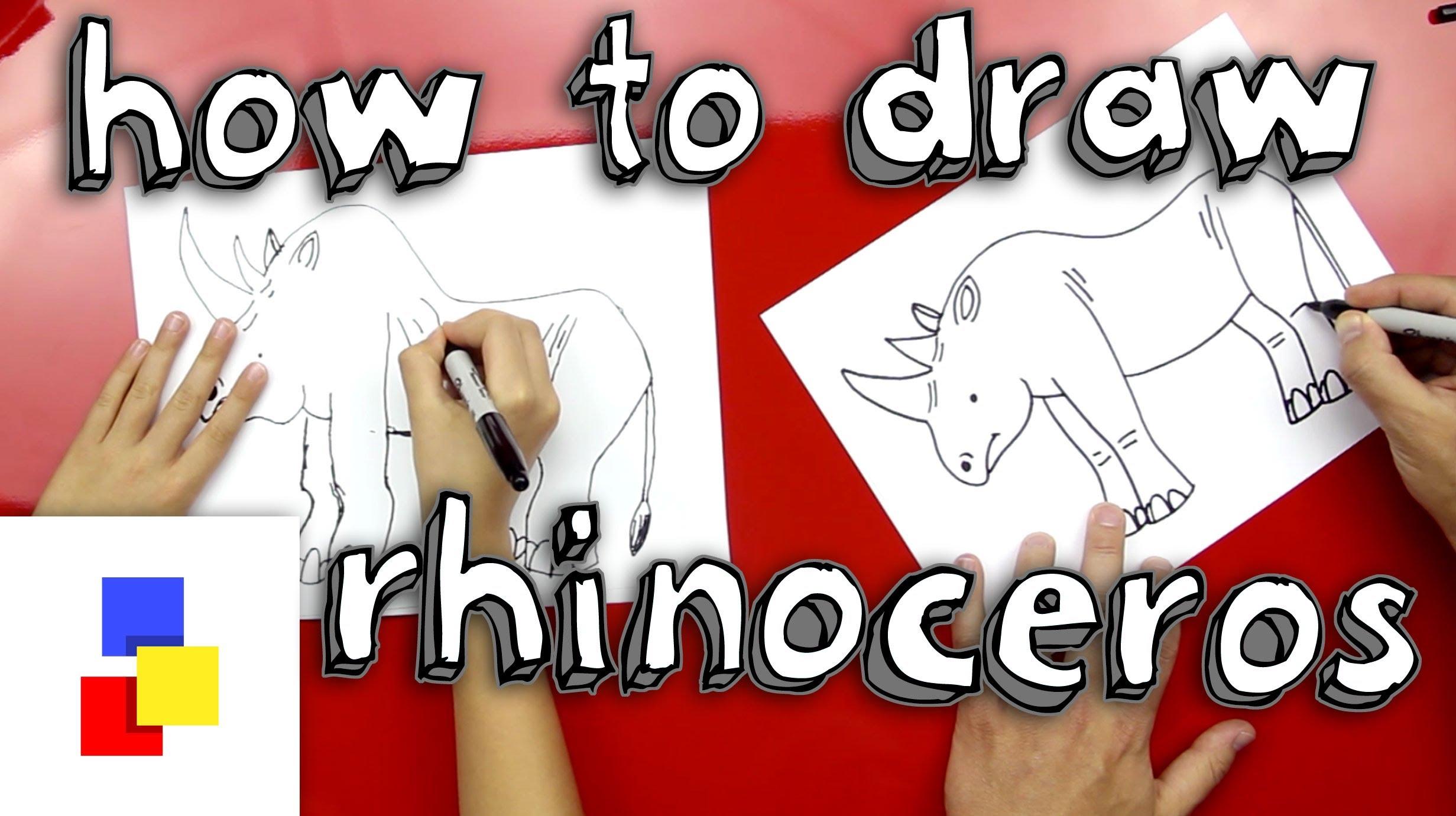 Drawn rhino little kid To A Rhinoceros How