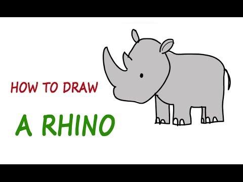 Drawn rhino little kid Lessons kids: RHINO How a