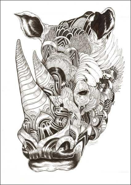 Drawn rhino mean Dailyartfixx Pinterest com/wp 20+ Rhino