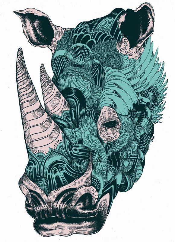 Drawn rhino mean Tats best By Macarthur #art