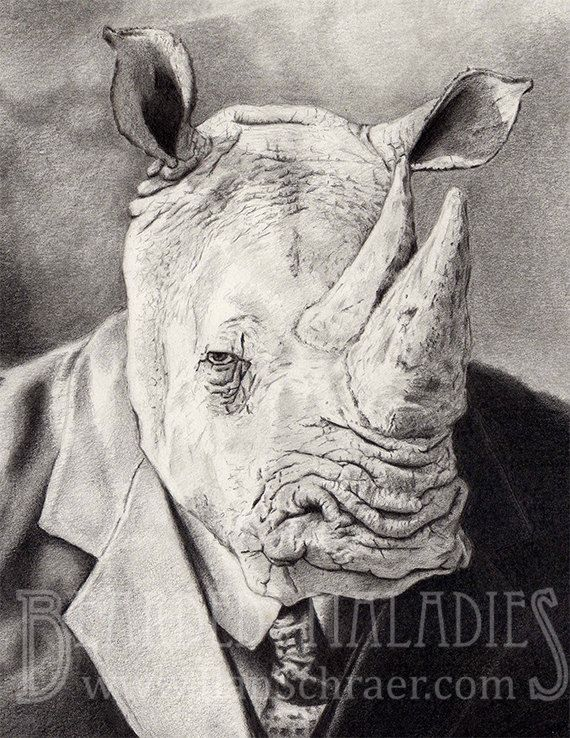 Drawn rhino mean On images drawing Search 19