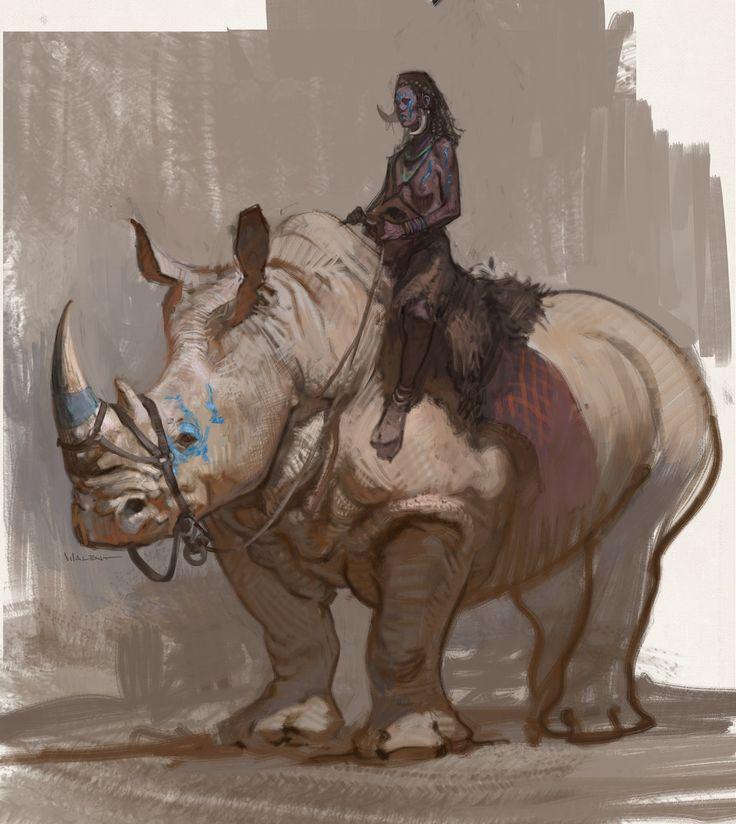Drawn rhino medieval animal Images Medieval Rhino deviantart Cavalry