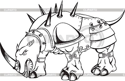 Drawn rhino monster VArts white Clipart Photos /