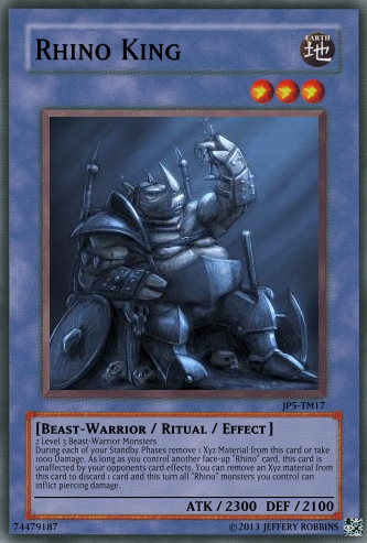 Drawn rhino monster Of the  King: Cards)