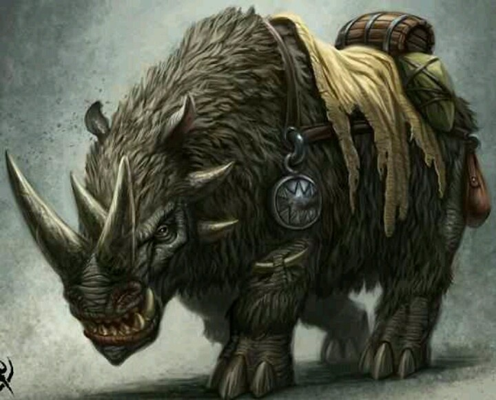 Drawn rhino monster Search giant Pinterest fantasy &