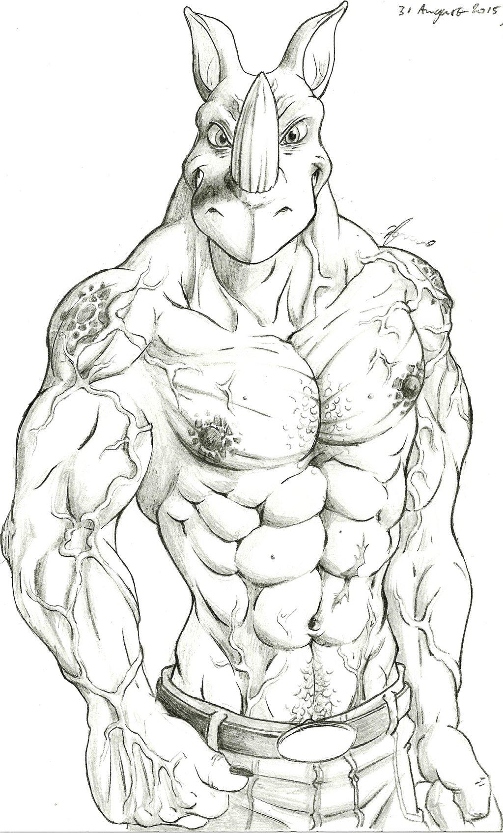 Drawn rhino muscular Kassanovas Muscle Kassanovas Muscle DeviantArt