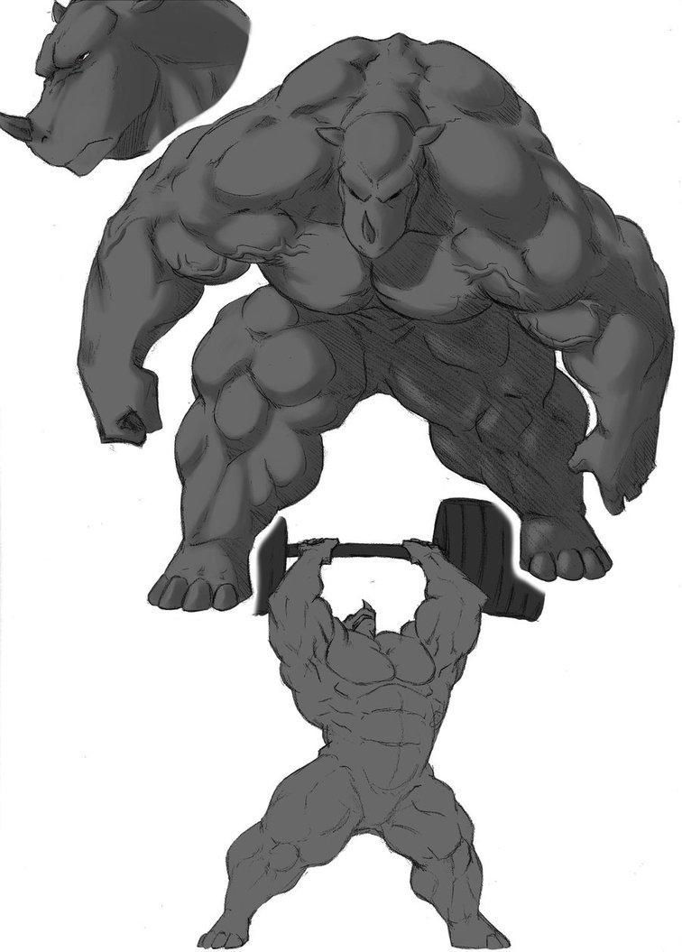 Drawn rhino draw a By 2 DeviantArt Rhinotaurs