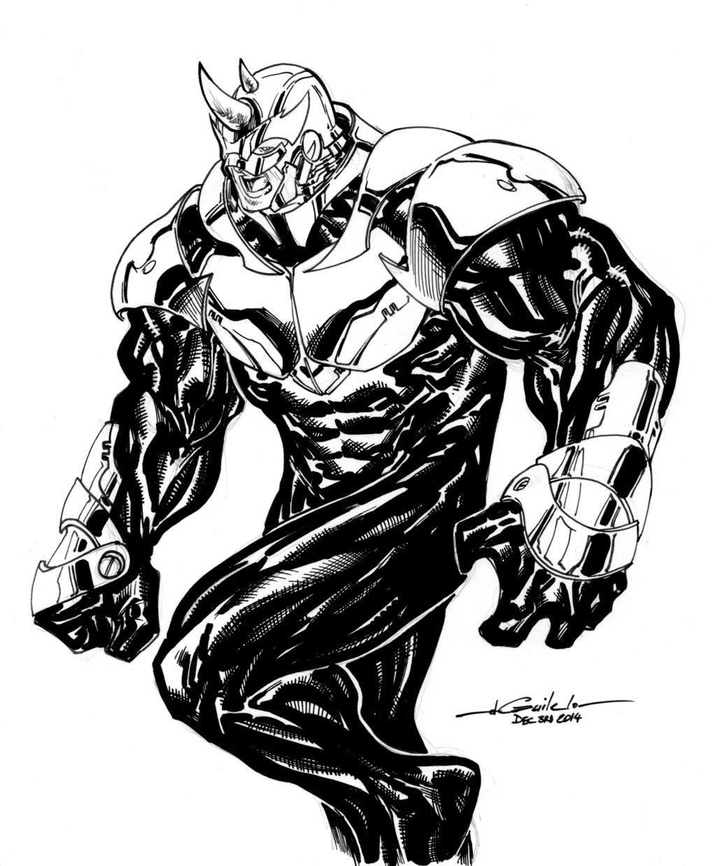 Drawn rhino muscular Dec3rd2014 Rhino DeviantArt by Dec3rd2014