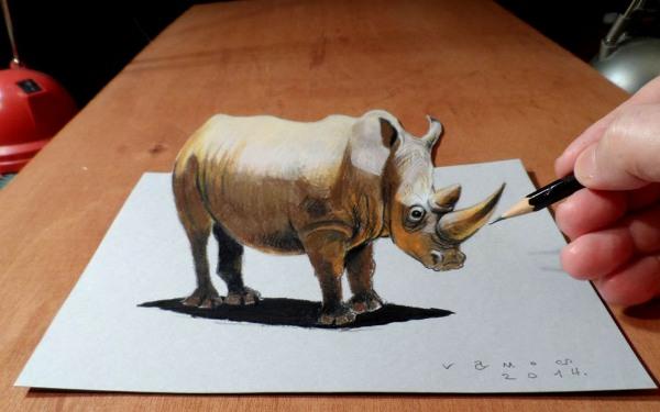 Drawn rhino realistic Bruin Art Ramon Design rhino