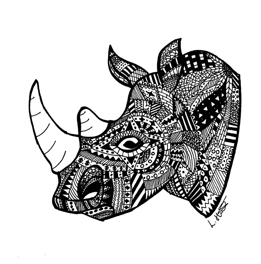 Drawn rhino rhino head Aztec Loren Rhino Loren by
