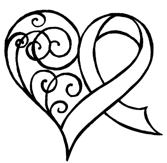 Drawn ribbon cancer I my represent for memory