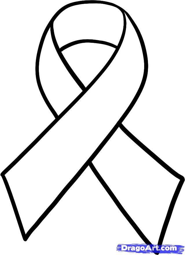 Drawn ribbon cancer Breast ribbon by ribbon Ribbon