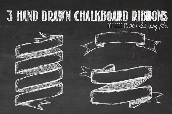 Drawn ribbon chalkboard Chalkboards Ribbons Chalkboard Hand Chalkboard
