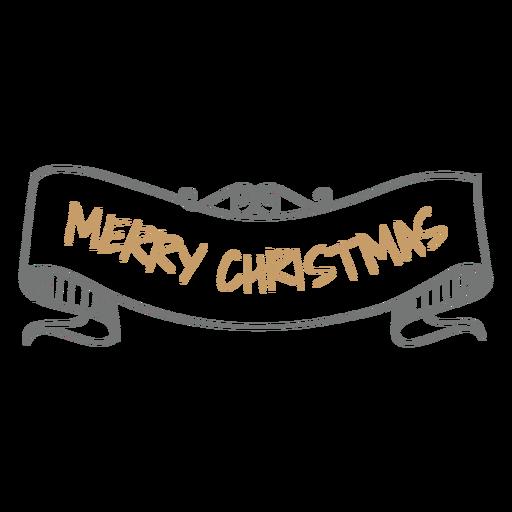 Drawn ribbon christmas Vector ribbon drawn SVG Transparent