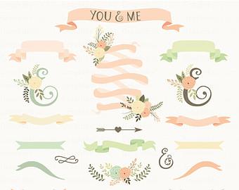 Drawn ribbon clipart Ampersand Ribbons ribbon drawn Hand