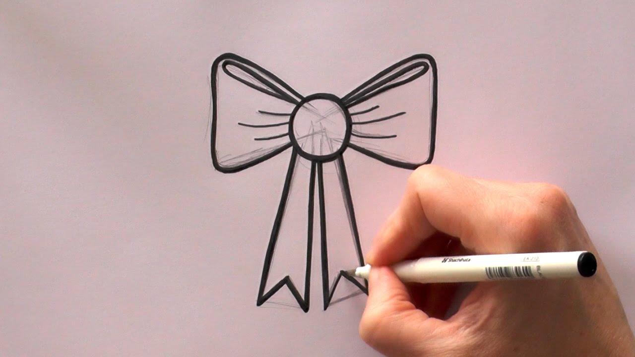Drawn ribbon cute bow Draw Bow to to Cartoon