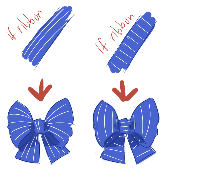 Drawn ribbon cute bow Right as and hairstyles least