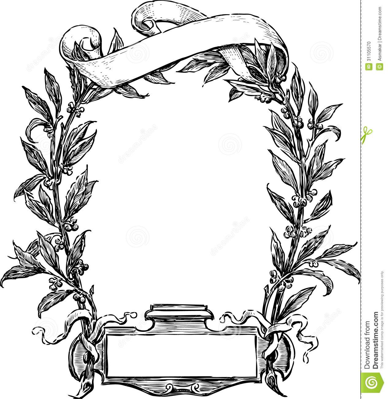 Drawn ribbon frame Google Grenze Pinterest  Feine