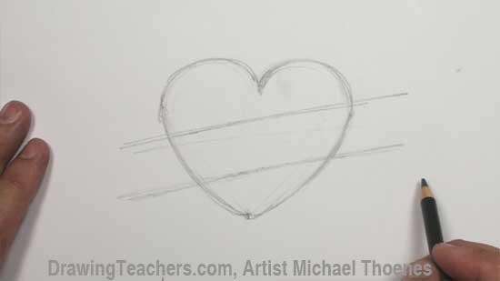 Drawn ribbon heart banner Drawing Design Design 1 Heart