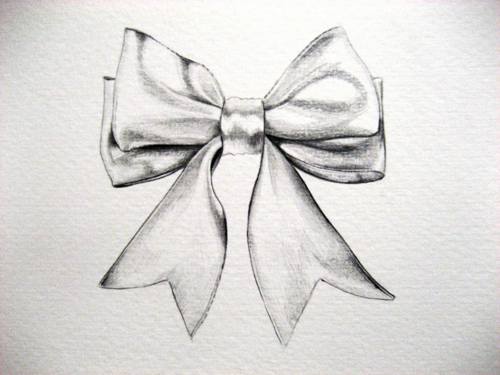 Drawn ribbon pencil drawing Bows Scribble Bow a 17