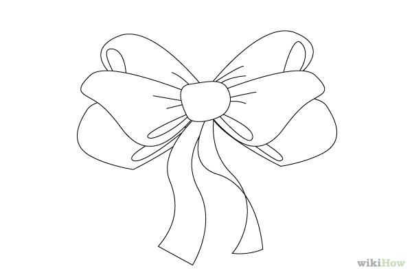 Drawn ribbon ribbon bow Bow Ribbon Ima Bow Outline