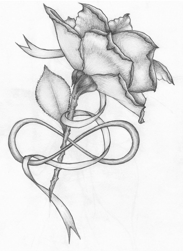 Drawn ribbon rose ribbon 30+ Ribbon Ribbon With Flower