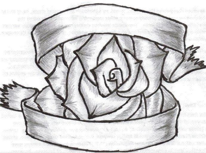 Drawn ribbon rose ribbon Zoominmedical Ribbons  Drawings With