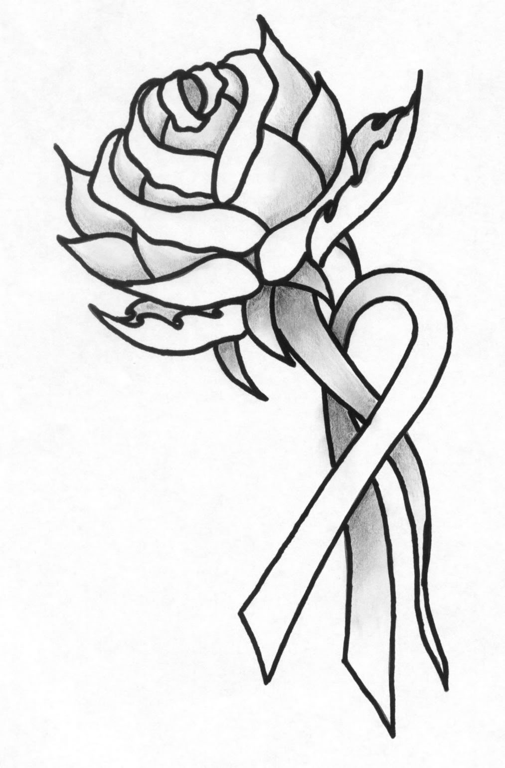 Drawn ribbon rose ribbon Pinterest and rose ribbon ribbon