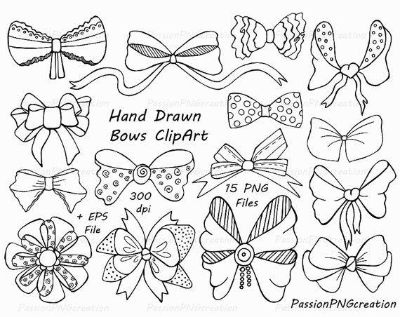 Drawn ribbon tied PNG Bows Ribbons vector EPS