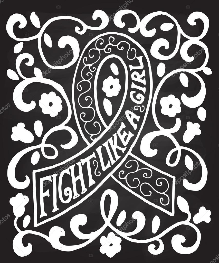 Drawn ribbon typography #86112004 hand Stock drawn Pink