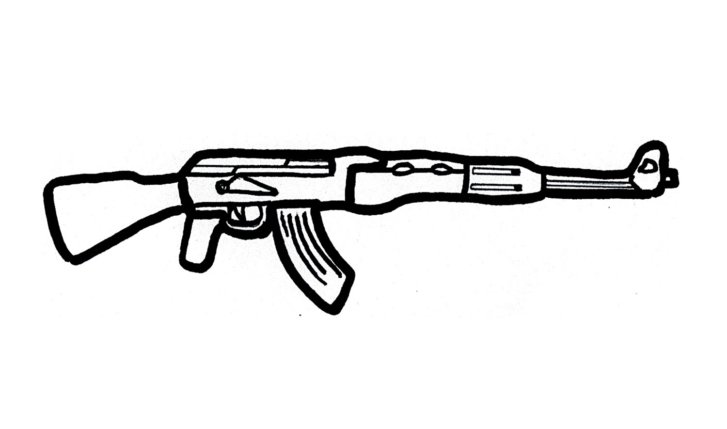 Drawn rifle Rifle) AK 47 AK an